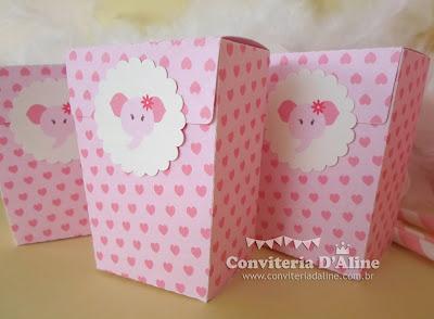 lembrança para chá de bebê menina rosa