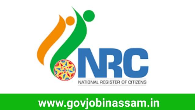 NRC Assam Recruitment 2018