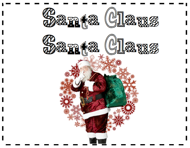 Santa Claus Book Freebie: A printable book for first grade. Santa Claus, Santa Claus is modelled after Brown Bear, Brown Bear.
