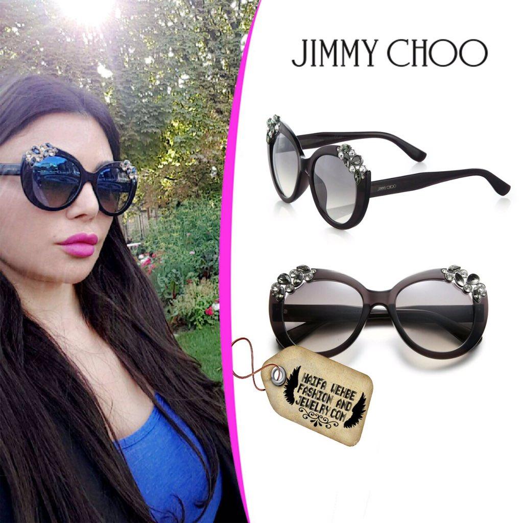 jimmy choo sunglasses online wm6r  Haifa Wehbe Wearing Jimmy Choo Megan Embellished Sunglasses