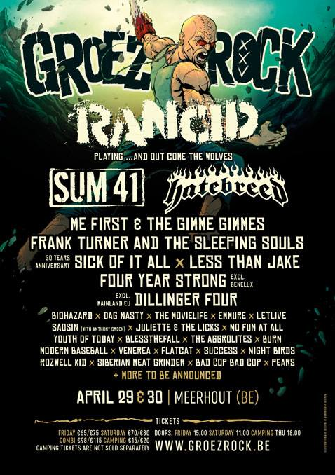 <center>Groezrock 2016 announce first bands</center>