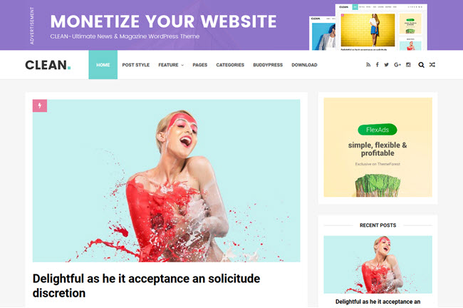Clean - Responsive Blogger Template