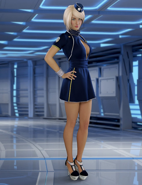 Attention Please Outfit for Genesis 3 Female