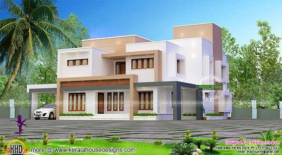 320 sq-yd flat roof box home design