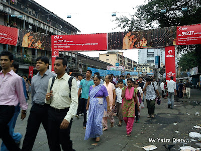 The crowds at the Lalbaugcha Raja, Ganesh Pandal during Ganesh Chaturthi celebrations