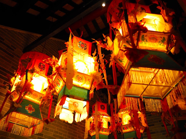Colourful Chinese lanterns in the Hong Kong Museum of History