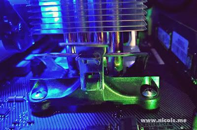 Gammax 400 sukses terpasang setelah mengendurkan skrup bracket pada socket AM4