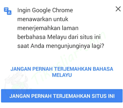 Cara Mematikan Auto Translate di Google Chrome Android