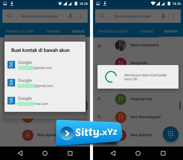 Cara Memindahkan Kontak Di HP Android