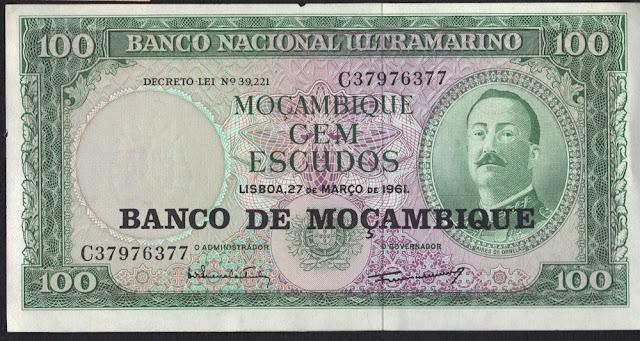 Mozambico 100 Escudos 1976 P117a