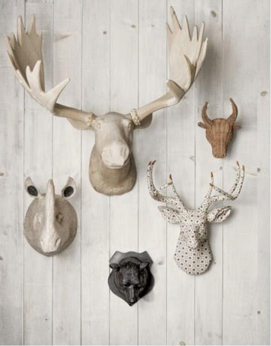 Una tendencia... decorar con astas de animales o cuernos