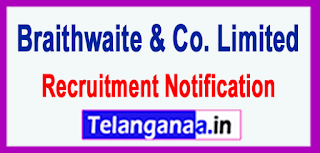 Braithwaite Co. Limited Recruitment Notification 2017 Last Date 25-05-2017
