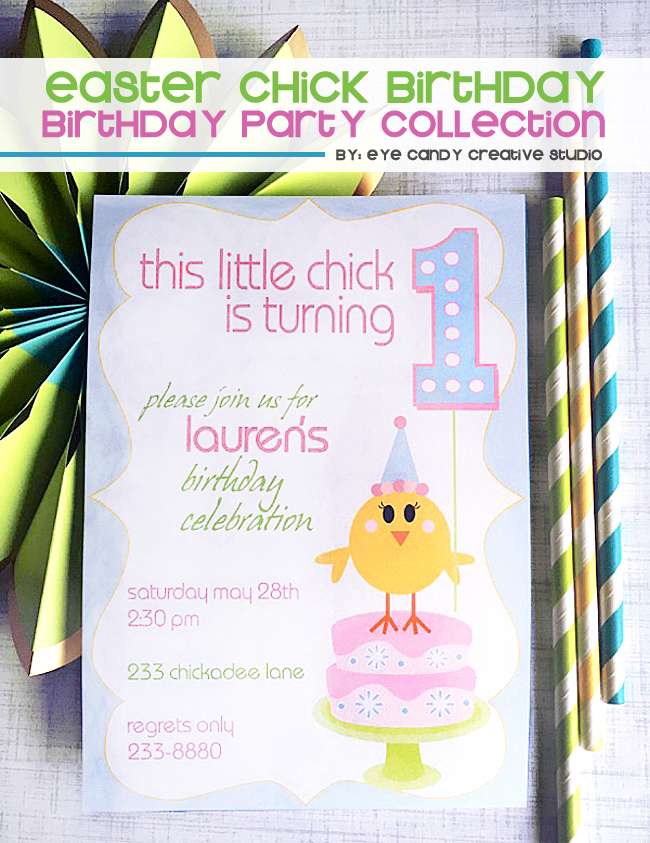 easter chicks, easter birthday idea, birthday chick, pastel colors