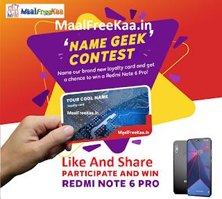Loylty Name Geek Contest