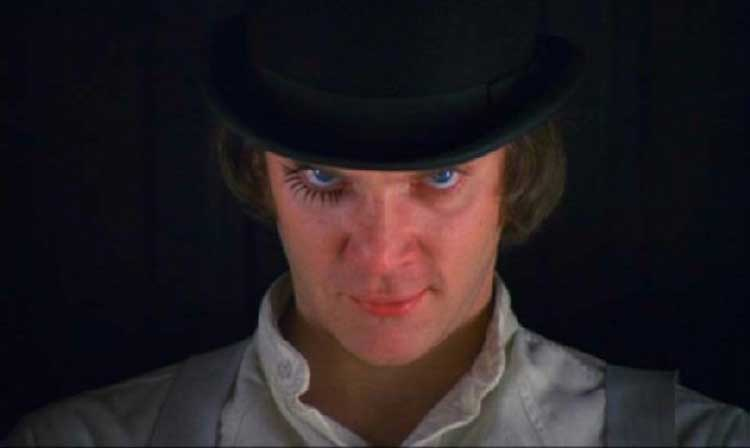 Malcolm McDowell is nuts in A Clockwork Orange.