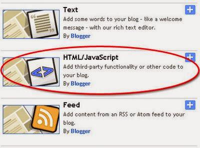 gambar cara menambah widget blog