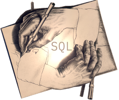 Writing recursive SQL (based on M.C.Escher by Henrik Loeser)
