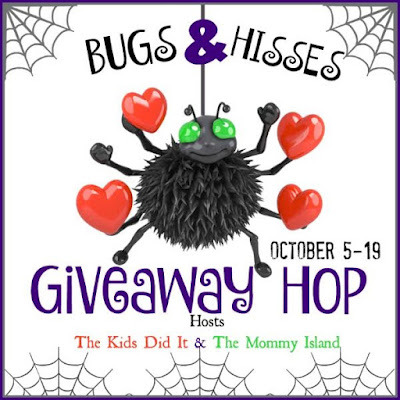 Win $20 PayPal Cash In The Bugs & Hisses Giveaway Hop #trickortreat