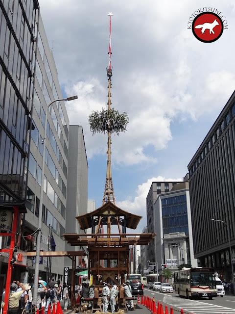 Hoko de la fête de Gion sur la rue Shijo