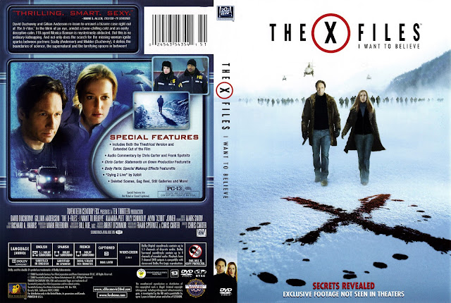 The X Files: I Want to Believe DVD Cover