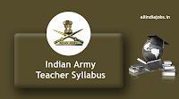 Indian Army Religious Teacher Syllabus