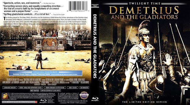 Demetrius And The Gladiators Bluray Cover
