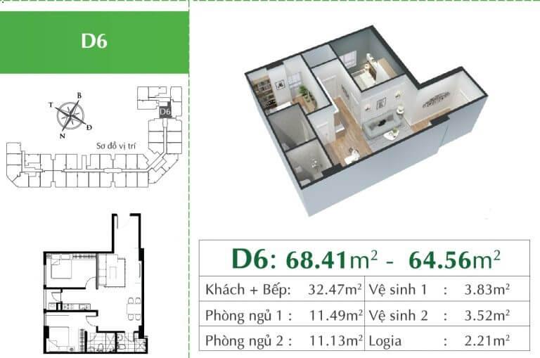 Căn D6 chung cư Ecocity Long Biên.