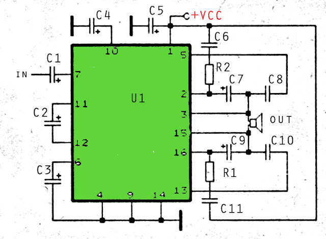 35W amplifier schematic