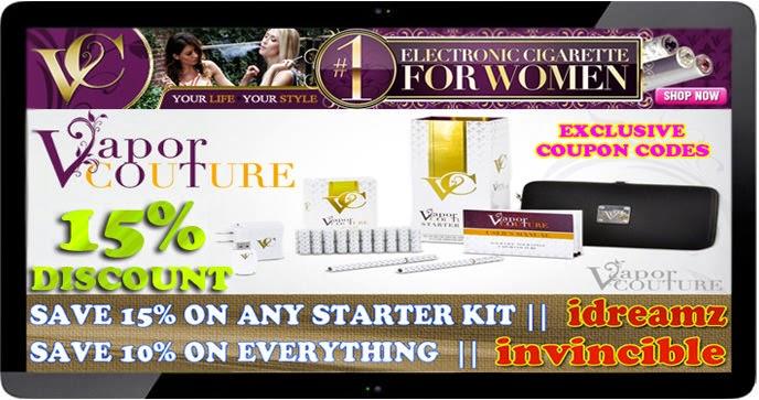Vapor Couture E-Cigarette promo Code