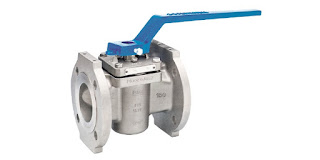 industrial plug valve with manual operating handle