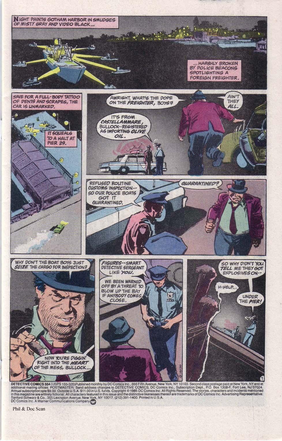 Detective Comics (1937) 554 Page 1