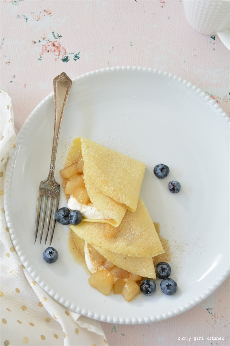 Crepes, Cream Cheese, Blueberries, Caramelized Pears, Crepes Recipe, Holiday Recipes, Breakfast, Thanksgiving, Christmas Breakfast Ideas