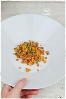 """Falsas migas de coliflor o coliflor salteada estilo """"migas""""- Sorprendente forma de preparar la coliflor"""