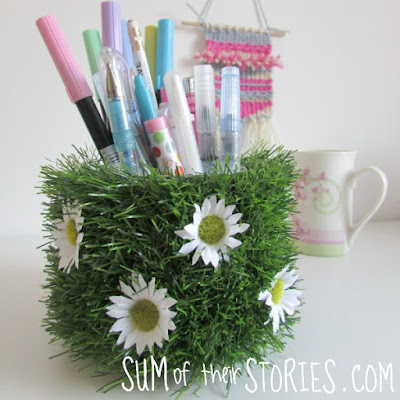Upcycled Daisy Pen Pot