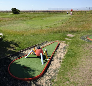 A Crazy Golf spider's eye view of the Par-3 Golf course at MiniLinks in Lytham Saint Annes