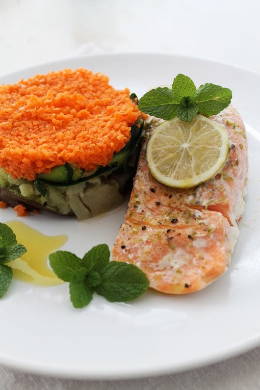 Eat Love - Wrapped salmon with lime!