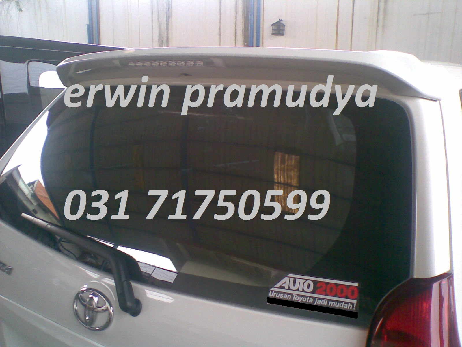 spoiler grand new avanza all kijang innova 2016 accessories mobil surabaya 3m auto film