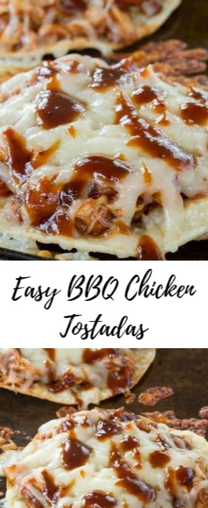Easy BBQ Chicken Tostadas