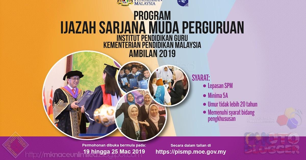 Program Ijazah Sarjana Muda Perguruan Pismp Dengan Kepujian Ambilan 2019