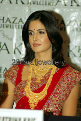 Katrina Kaif In Traditional Antique Complete Bridal Set