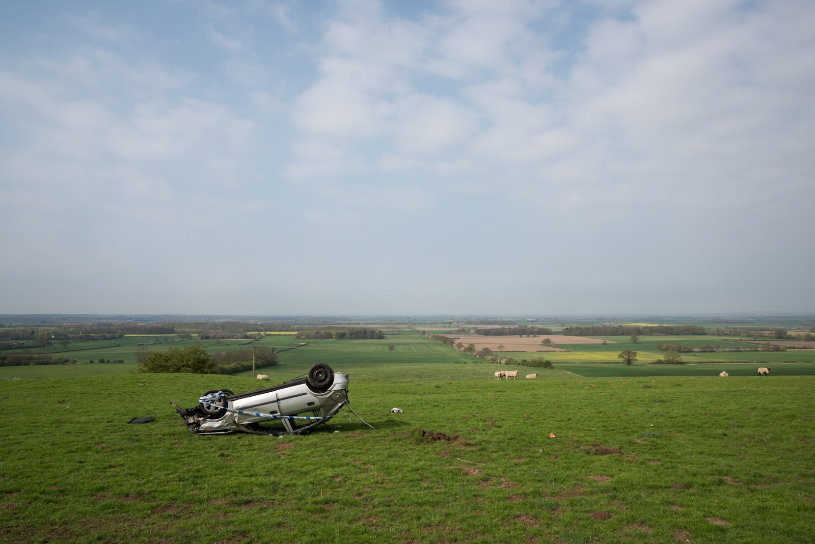 Car crash - Burton village
