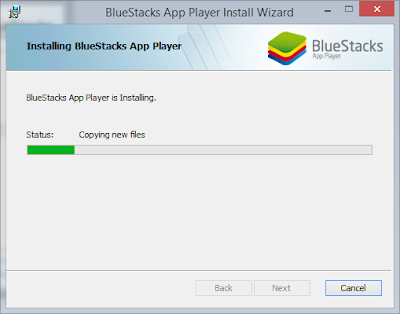 loading bluestack after download bluestack