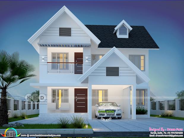 1992 Square Feet 4 Bedroom Beautiful House Plan Kerala