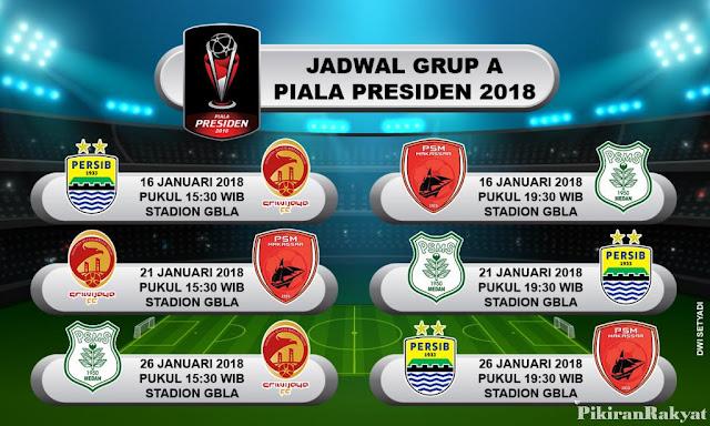 Jadwal Persib Grup A Piala Presiden 2018