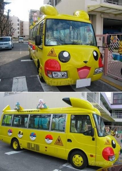 Bus-Bus Sekolah Yang Unik dan Lucu Dari Jepang