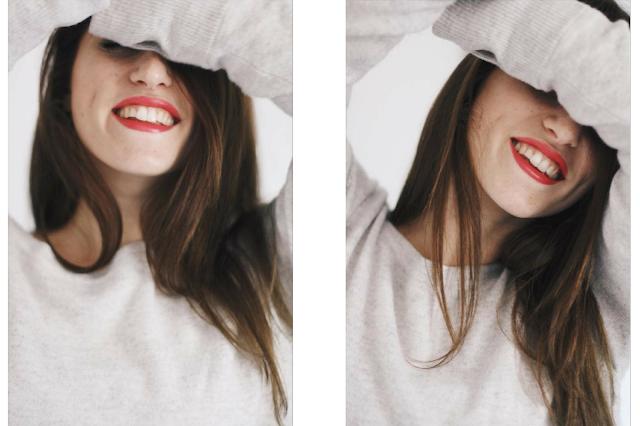 autoportrait femme sourire