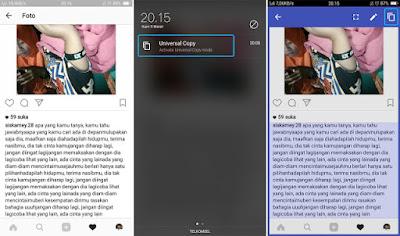 Cara Terbaru Copy Paste Postingan dan Komentar Instagram di Android