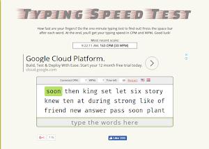 Typing Speed Test (Cara Mengukur Kecepatan Mengetik)