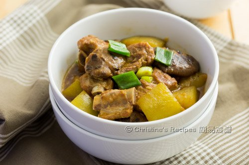 節瓜冬菇炆排骨 Braised Pork Ribs with Hairy Gourd02