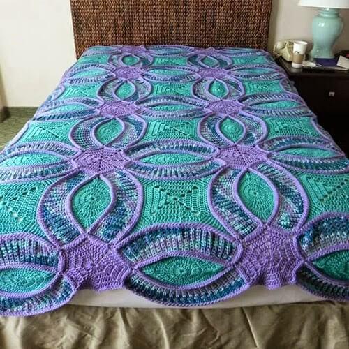 Bedspread In Crochet Wonderful Model See This Step By